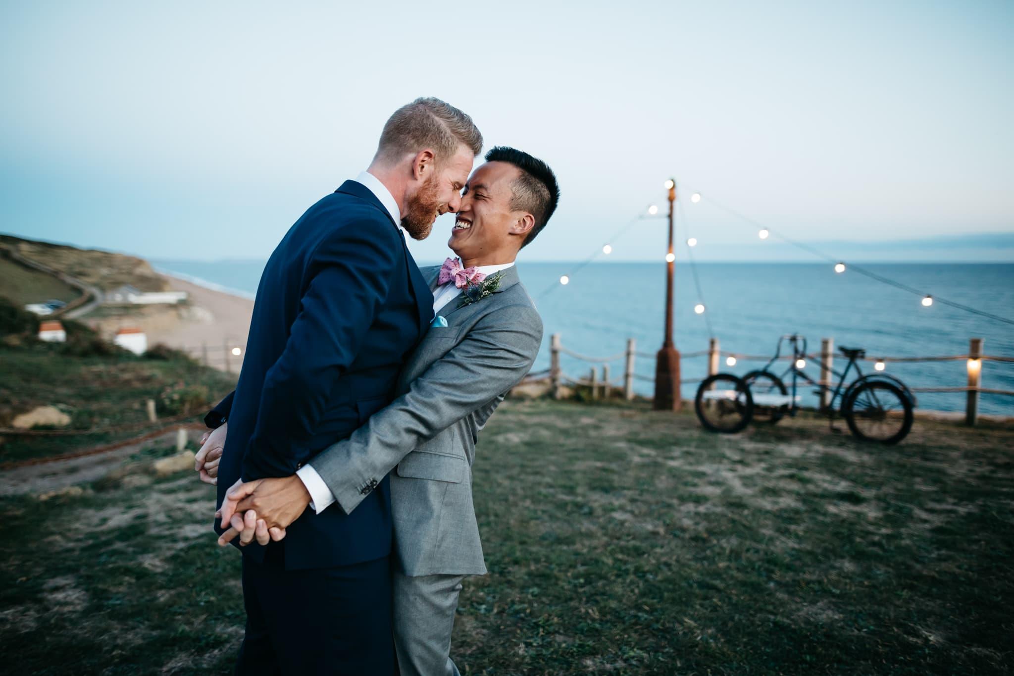 Same sex couple at their wedding