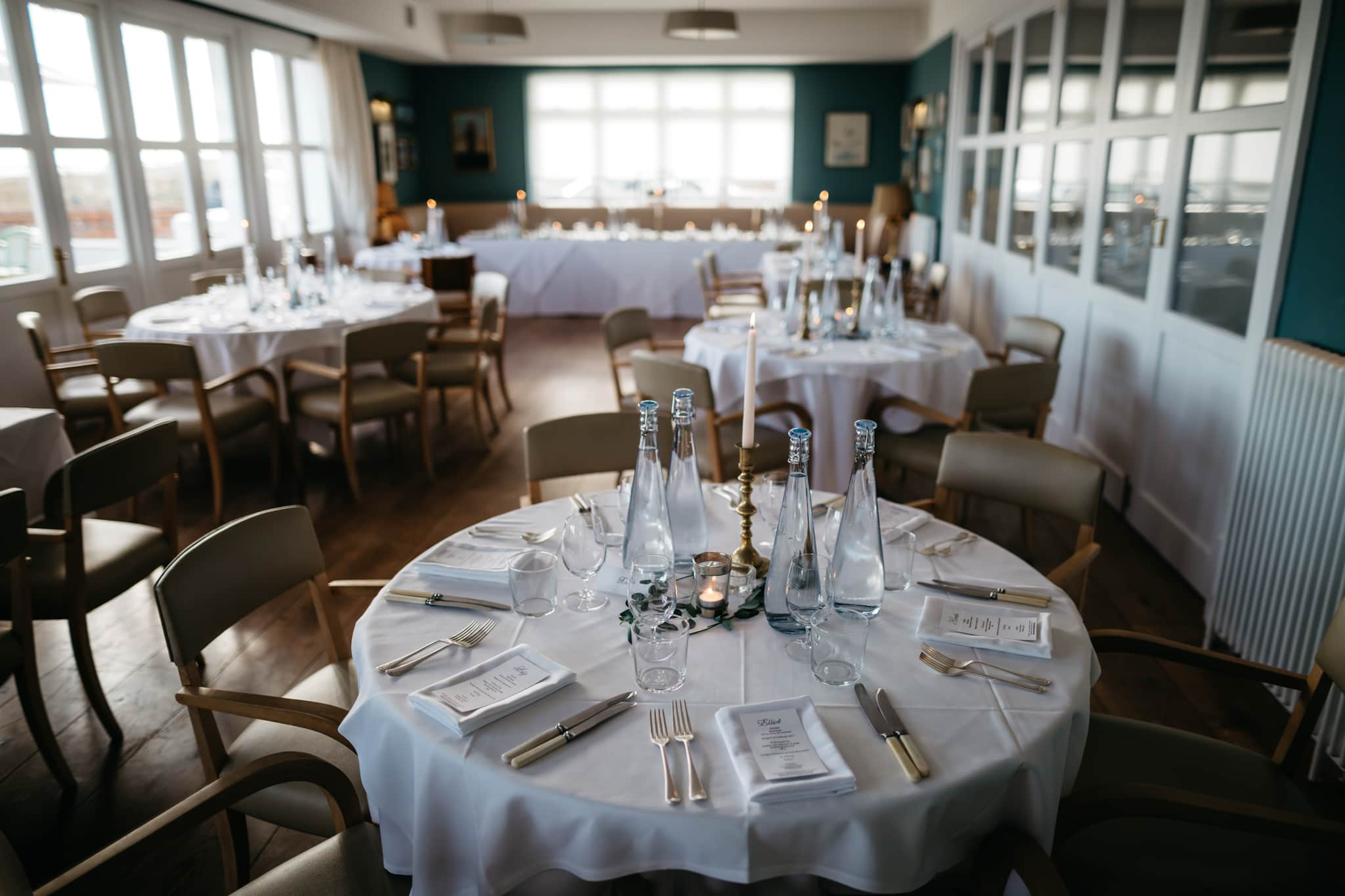 Details of wedding breakfast at Seaside Boarding House