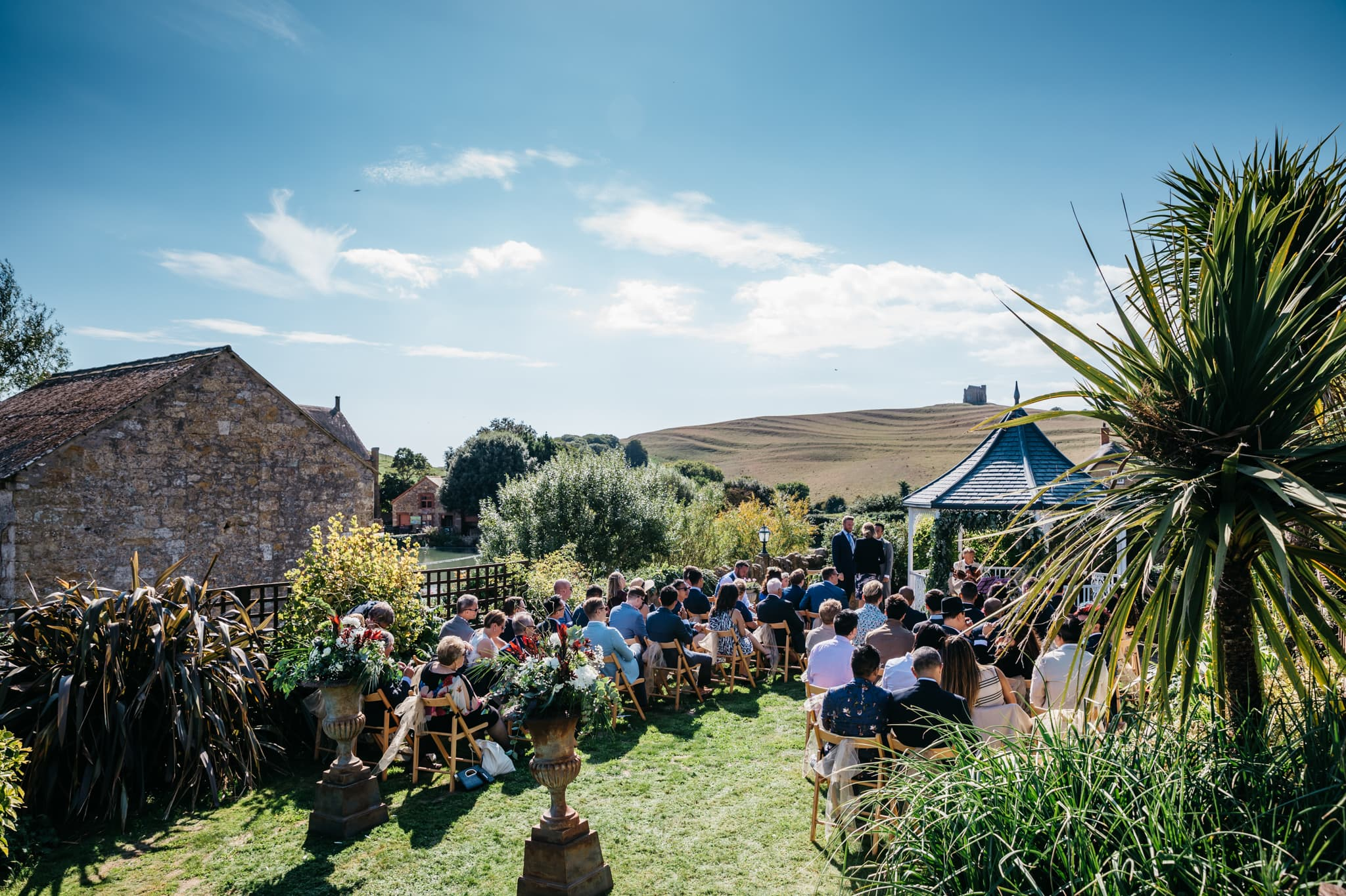 Gay wedding at the Abbey House in Abbotsbury