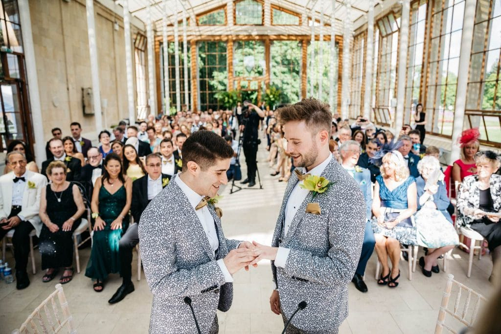 Kew Gardens gay wedding
