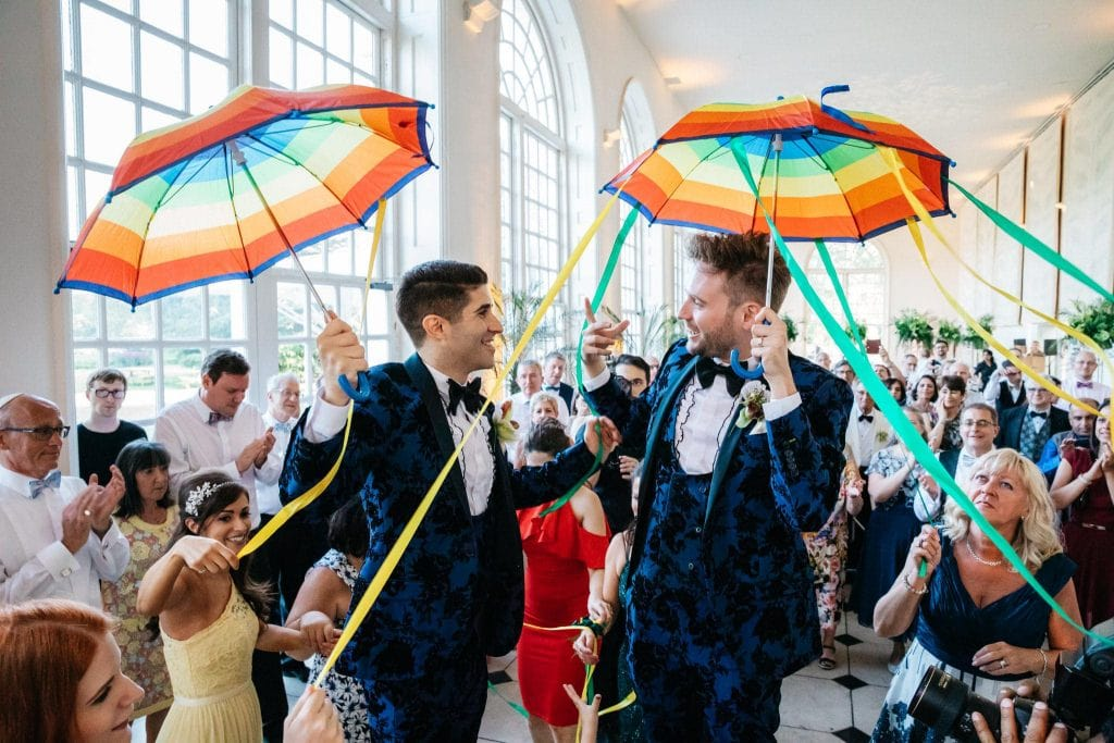Kew Gardens same sex wedding
